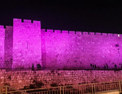 Shalva Colors Jerusalem with Hope for Chanukah